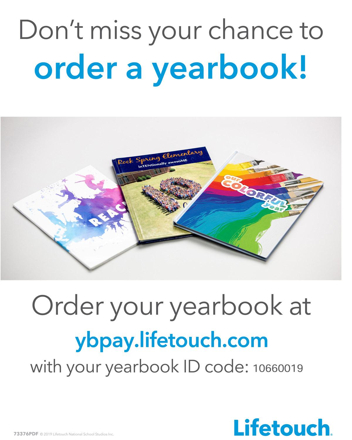 Goff Yearbook flyer