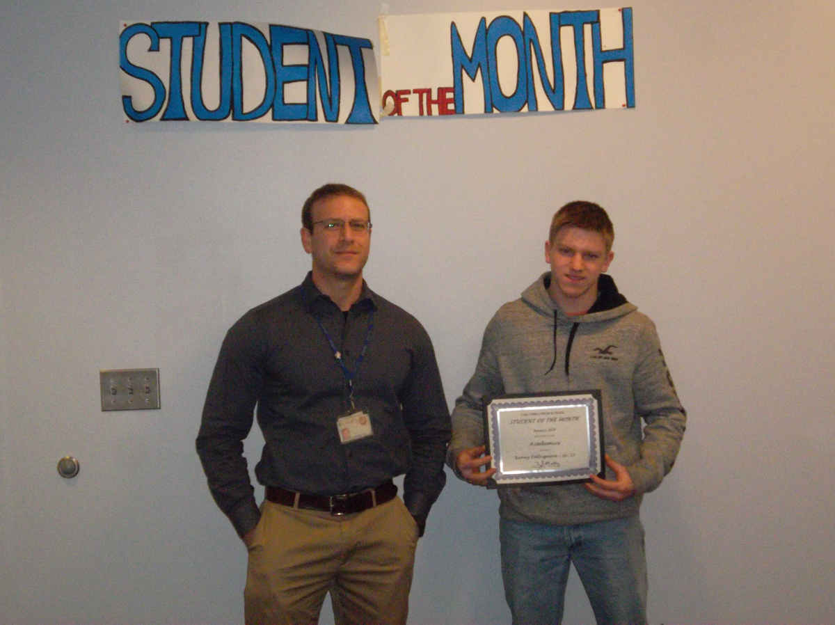 Kenny DelSignore - Student of the Month