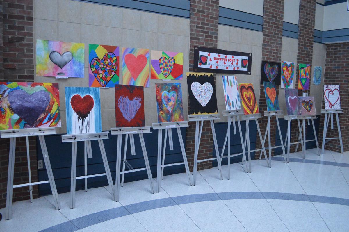 Valentines Day art exhibit