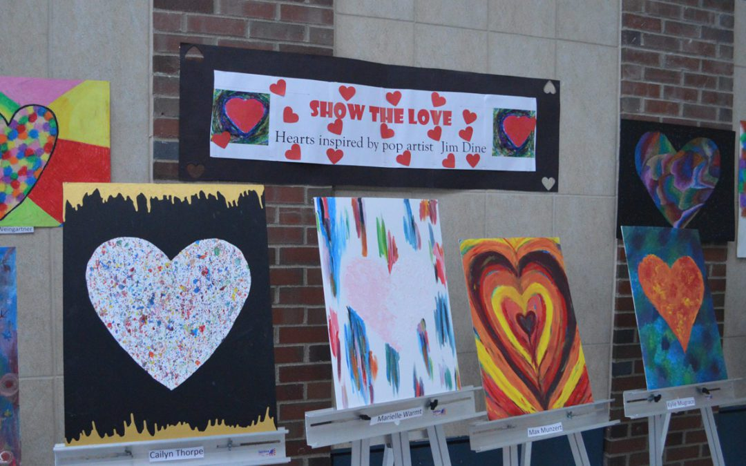 Columbia Students 'Show the Love' with Art Exhibit
