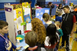Students view research projects