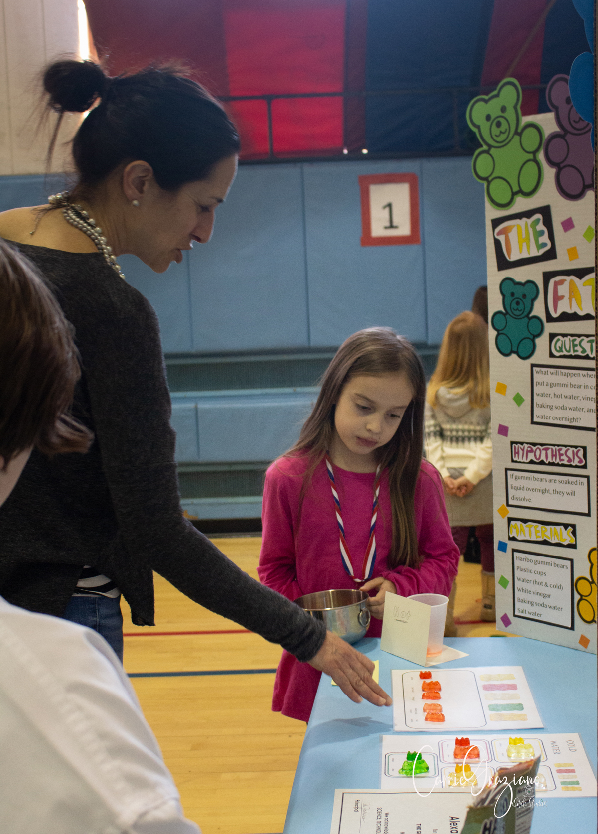 Student presents research project