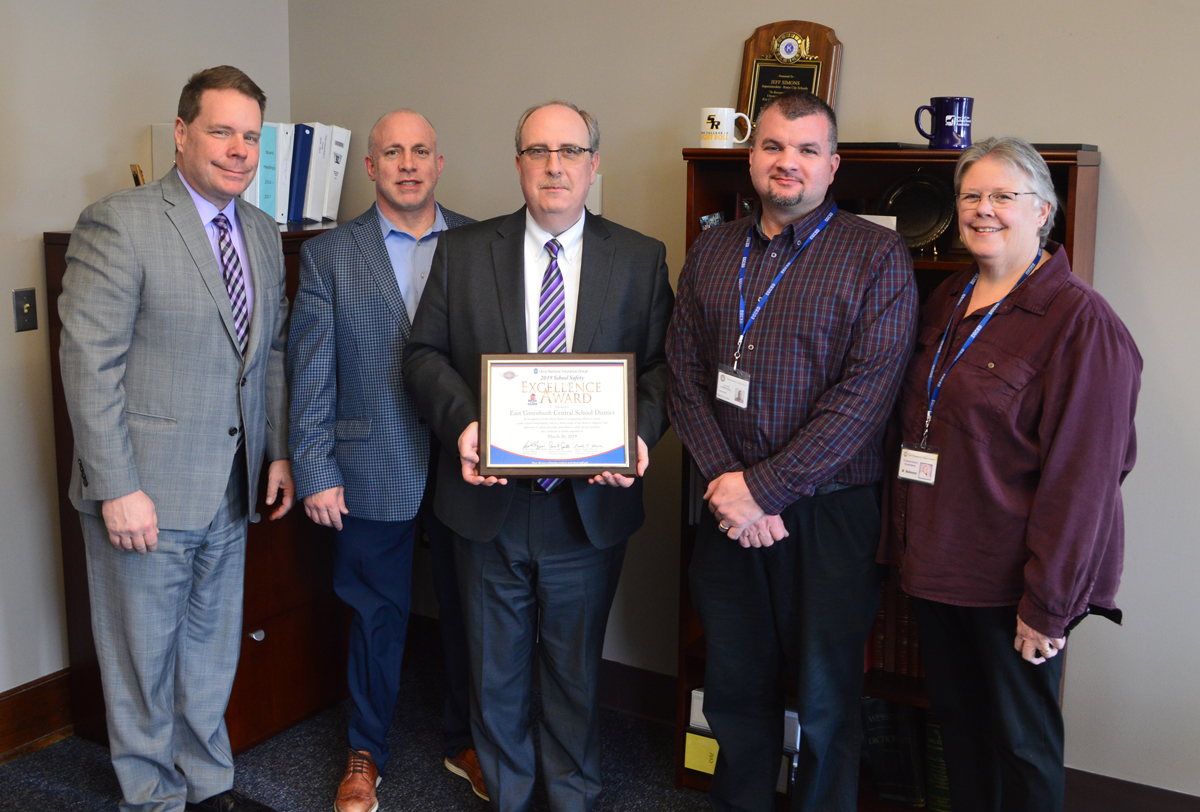 District administrators with safety award