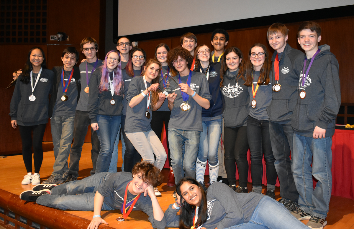 Columbia Science Olympiad team at Cornell Tournament