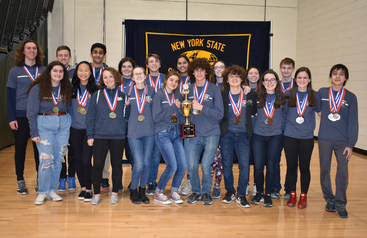 Columbia Science Olympiad team at state championship