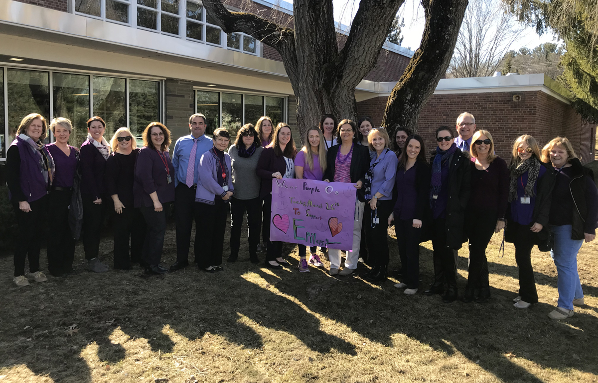 Green Meadow staff at Epilepsy Awareness Day