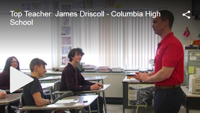 Screenshot of Mr. Driscoll teaching