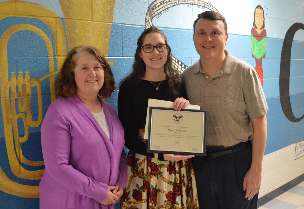Molly DeMarco receives President's Volunteer Service Award