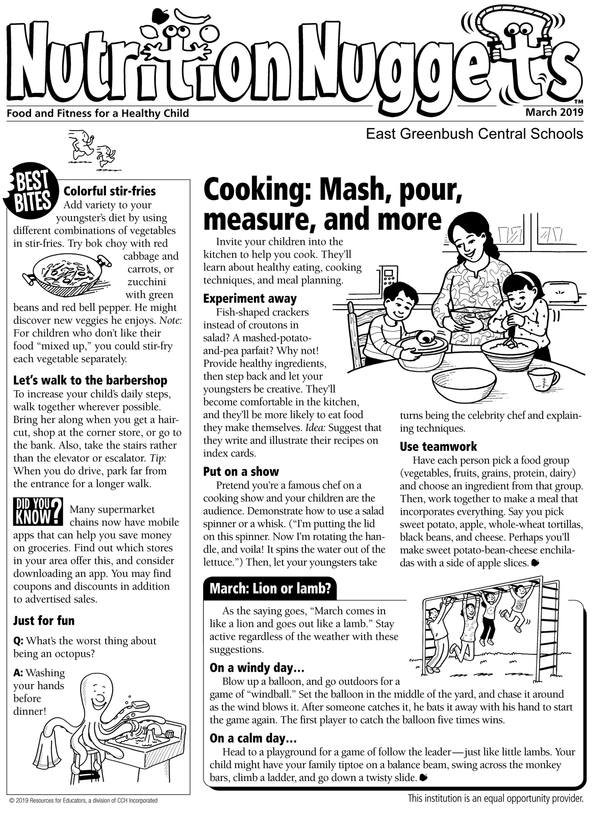Nutrition Nuggets March newsletter page 1