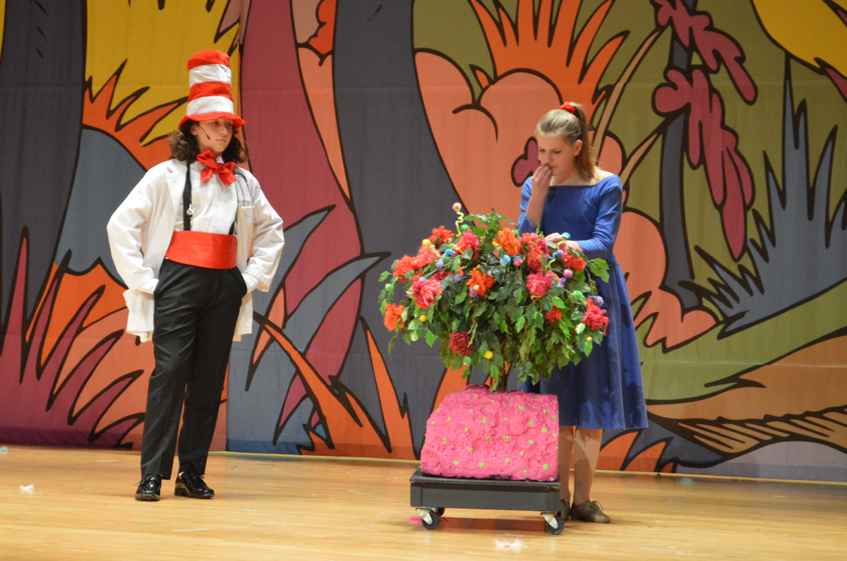"Students performing in ""Seussical Jr."""