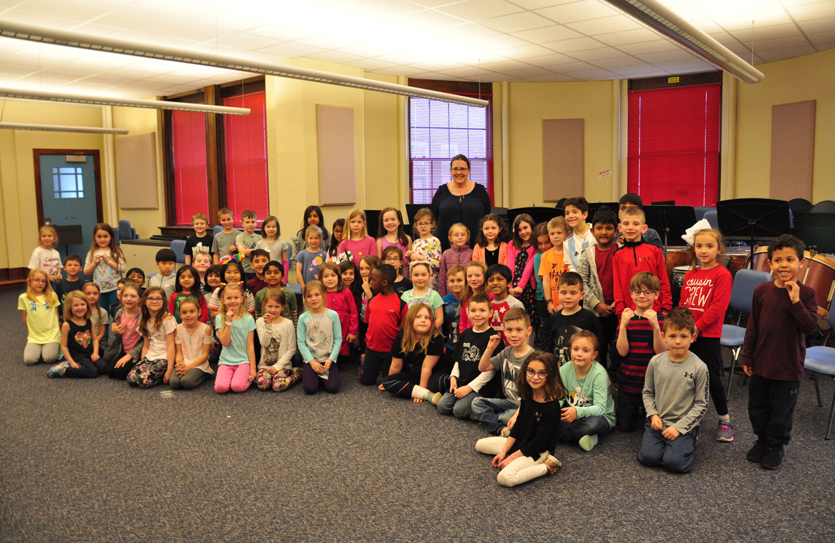 1st graders with Tracey West
