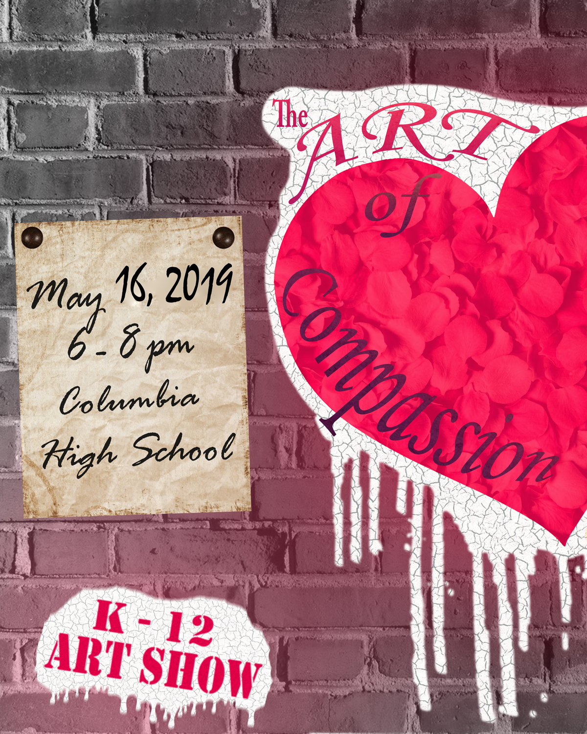 2019 District-wide Art Show poster