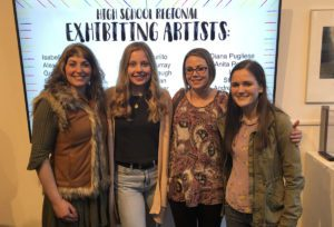 Students and teachers at 2019 High School Regional Art Exhibition