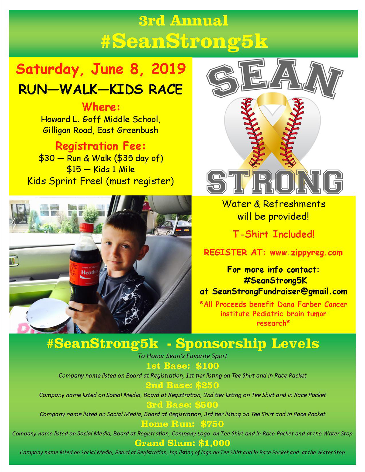 2019 SeanStrong5K flyer