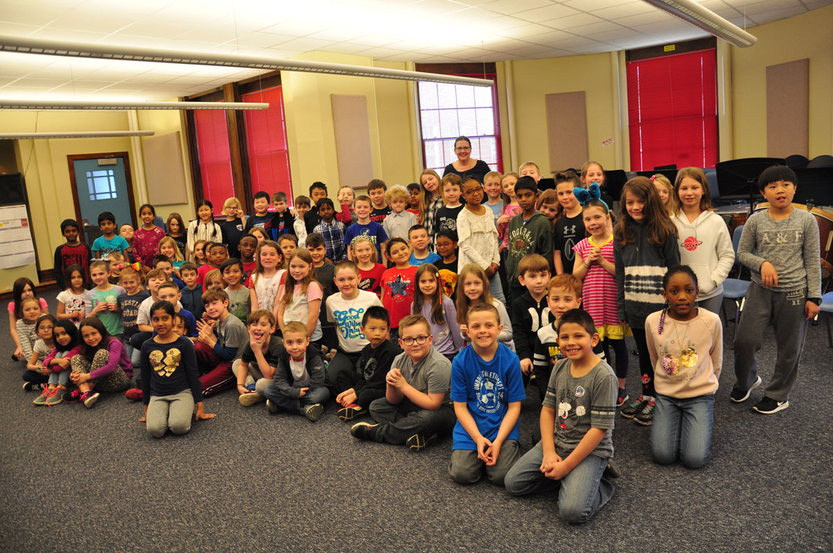 2nd graders with Tracey West
