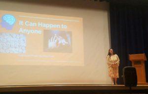 Abby Pauli gives presentation