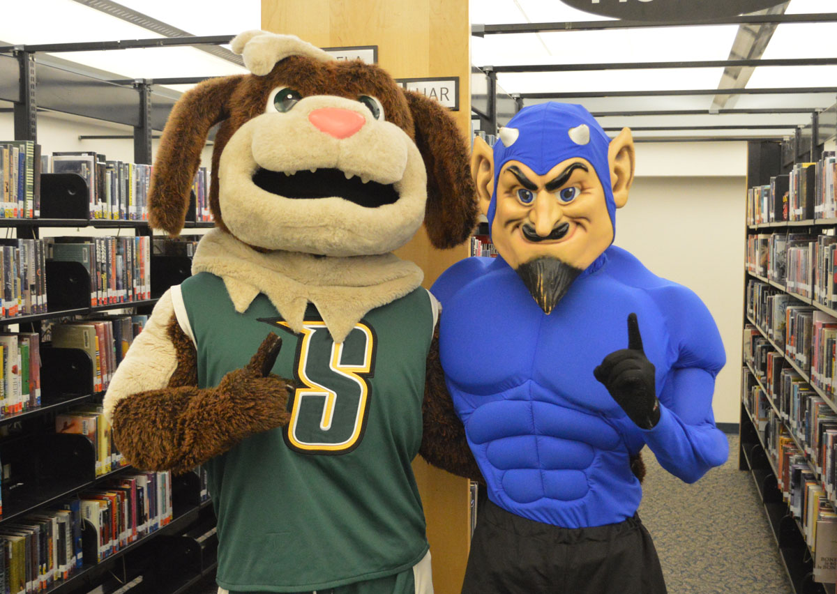 Siena and Columbia mascots