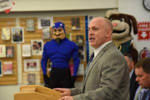 James McHugh speaking at event