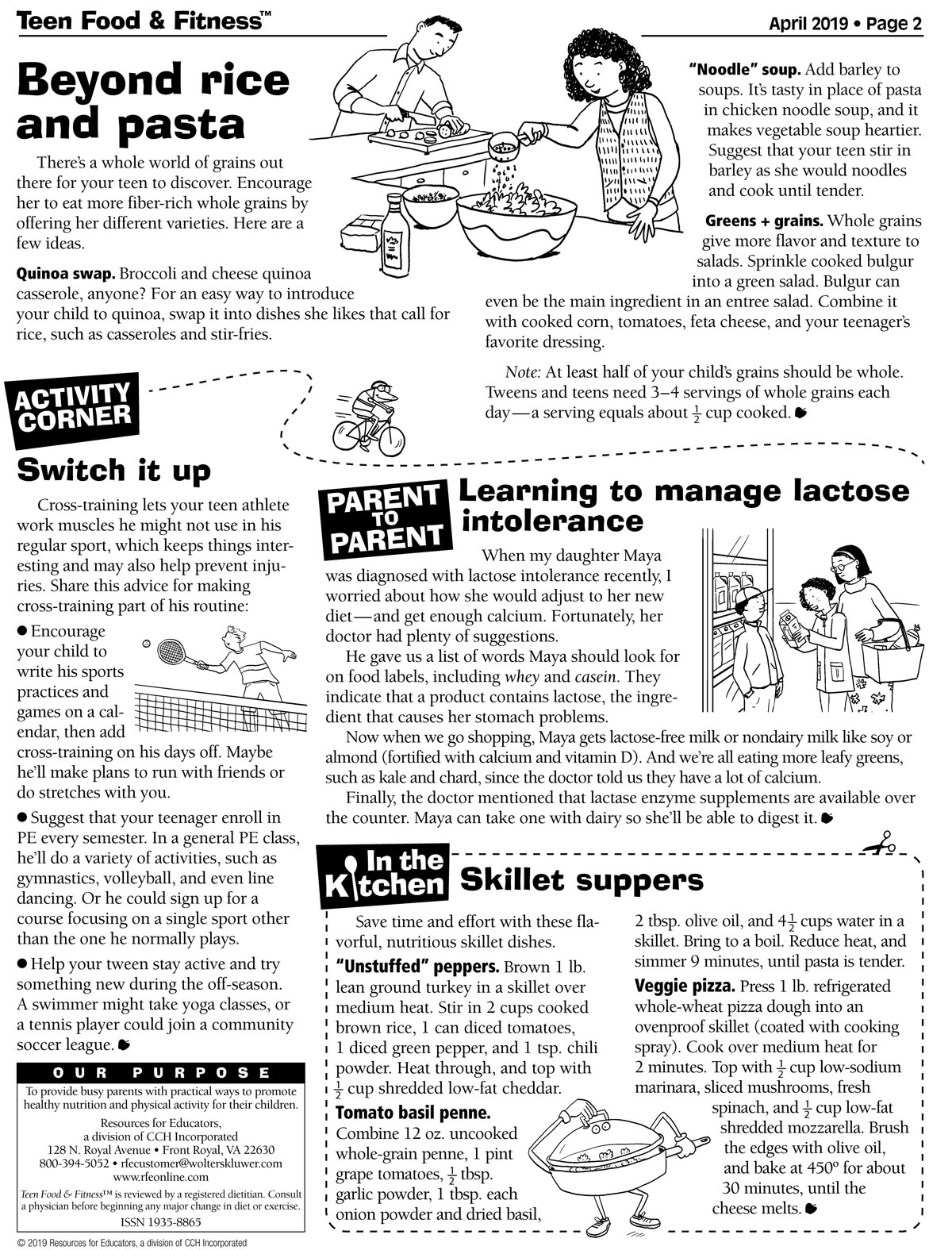 Food and Fitness April newsletter page 2