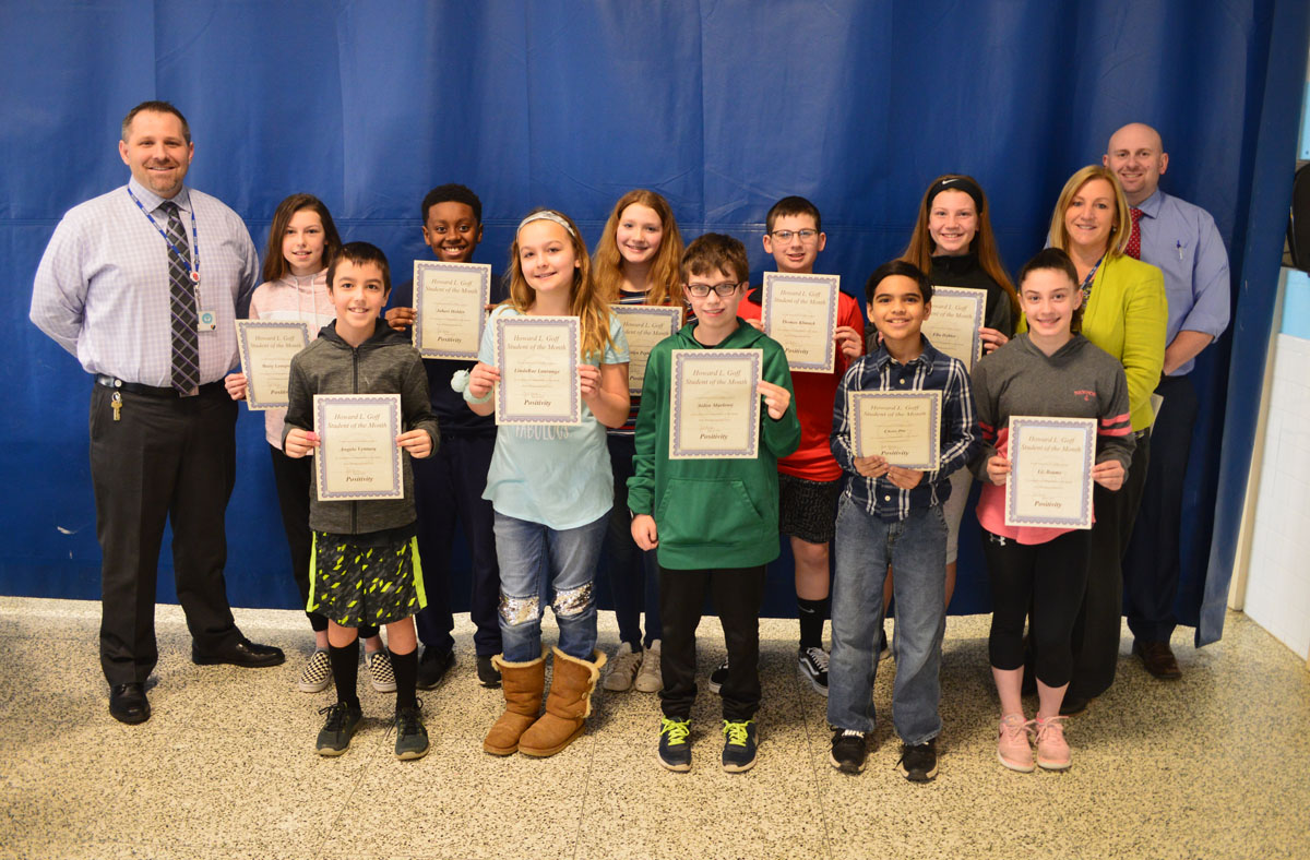 6th Grade Students of the Month for March 2019