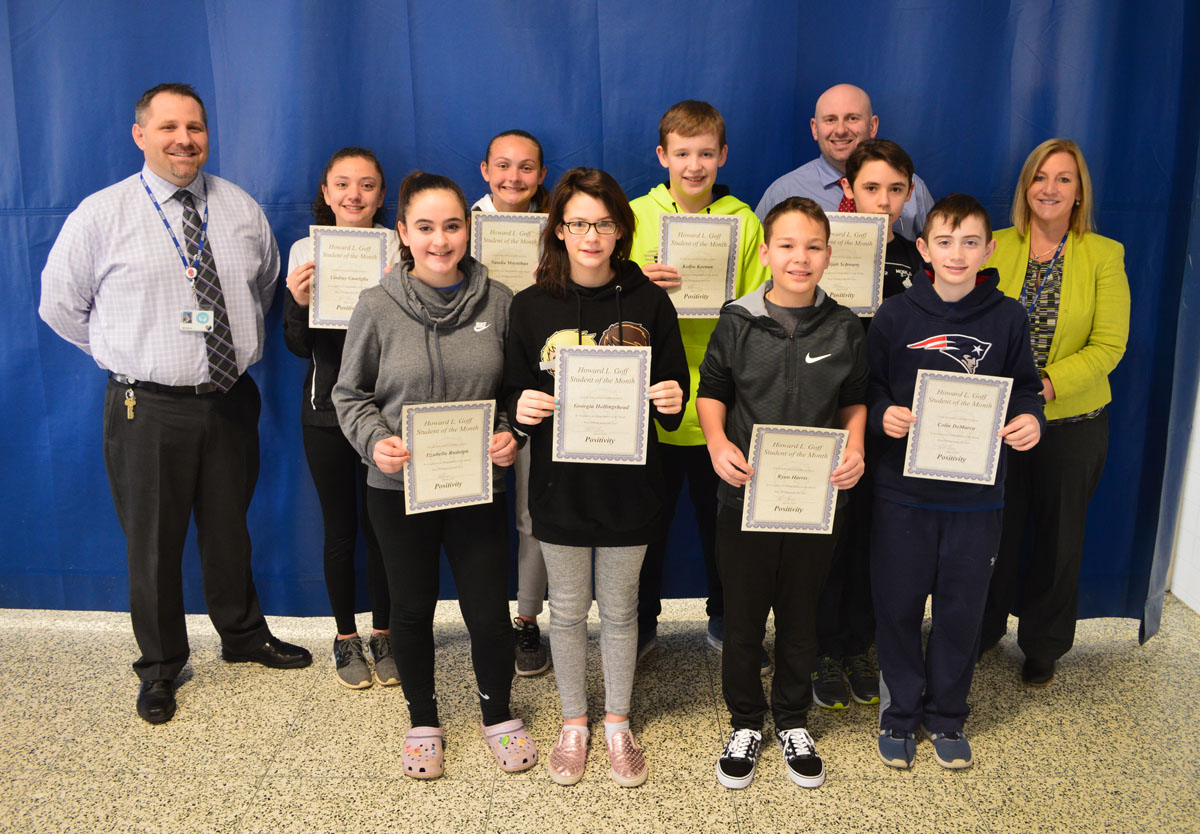 7th Grade Students of the Month for March 2019