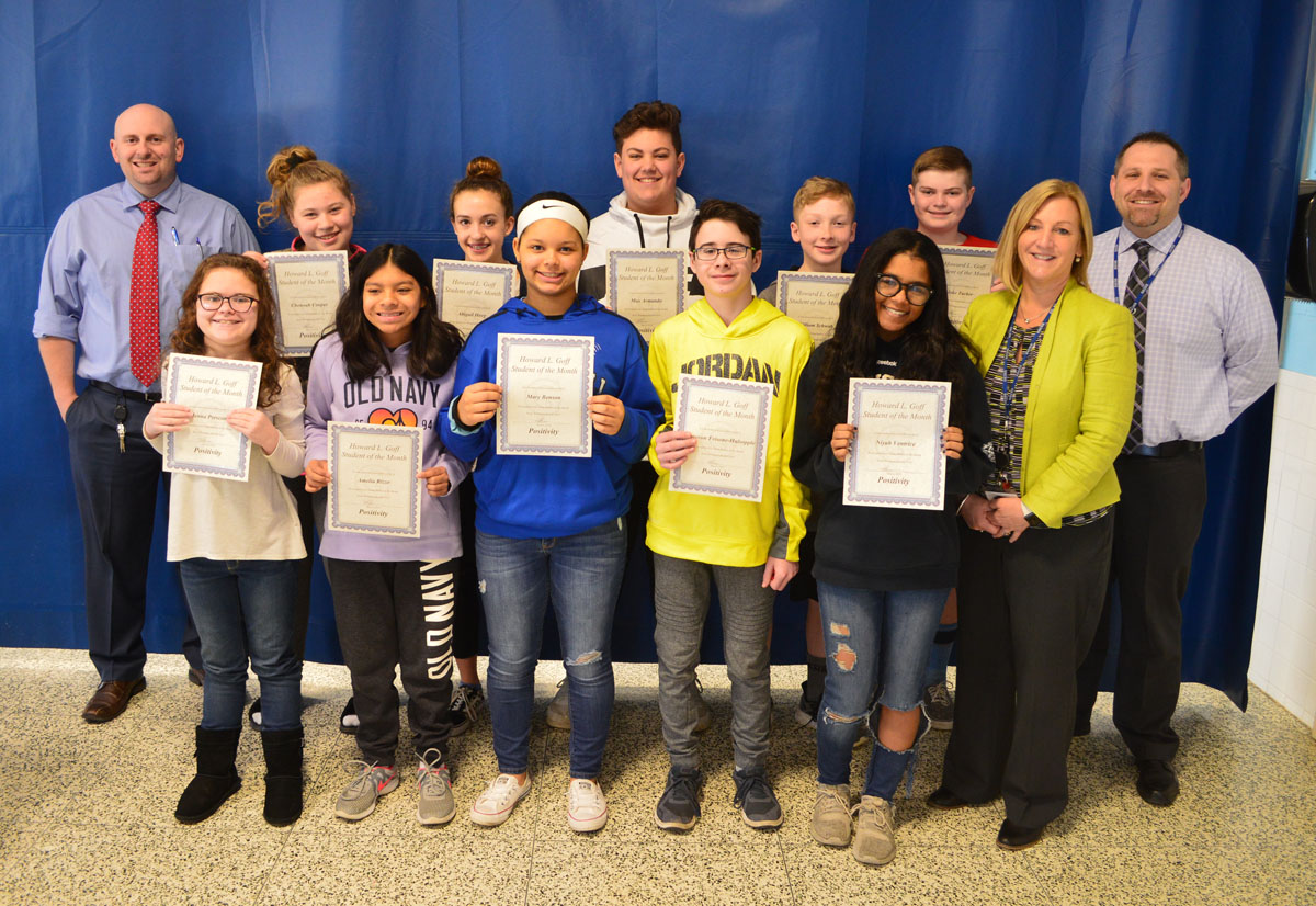 8th Grade Students of the Month for March 2019