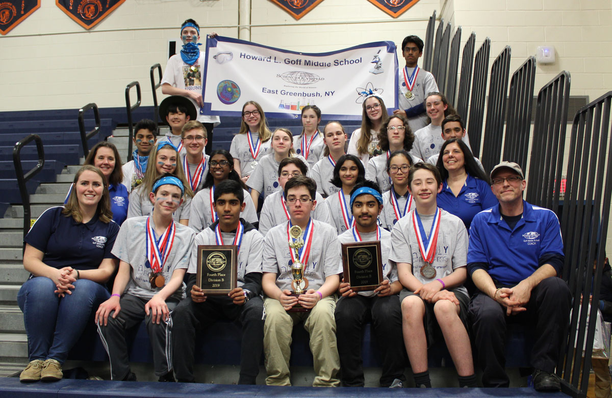 olympiad science state finals team goff york 4th places teams east placed syracuse competition saturday