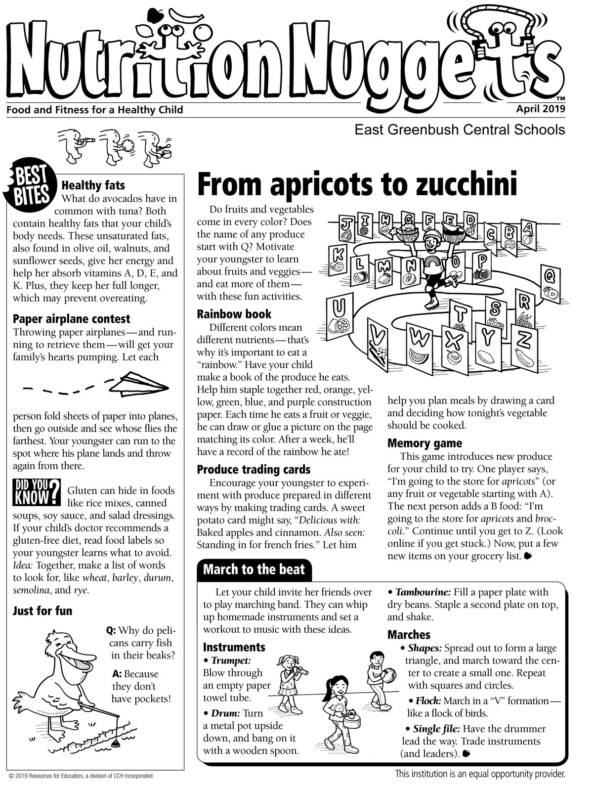 Nutrition Nuggets April issue page 1