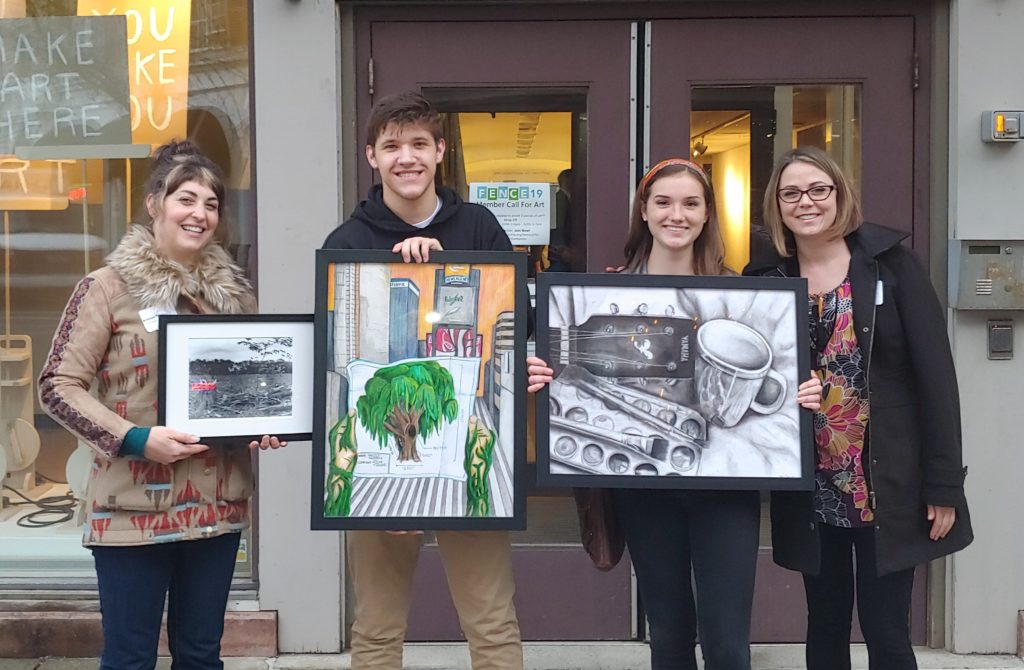 Columbia students at Congressional Art Show