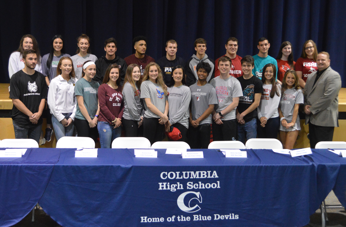 Columbia student athletes make their college commitments