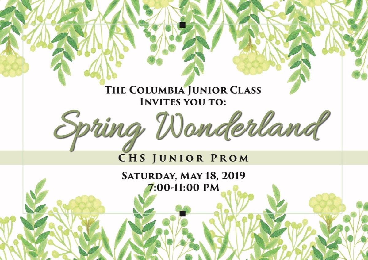 Class of 2020 Junior Prom invite