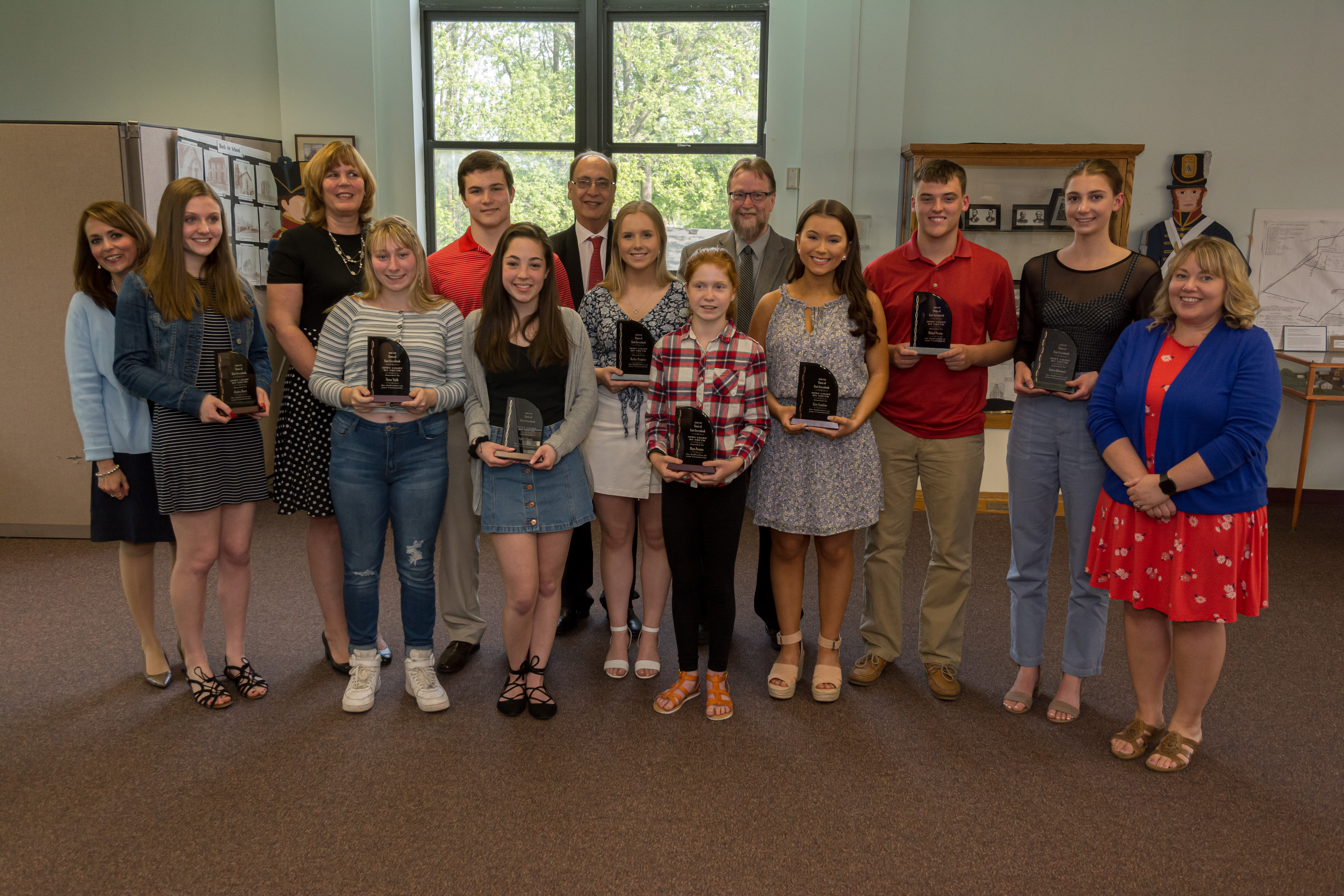 Students at Town of East Greenbush Youth Spotlight Awards