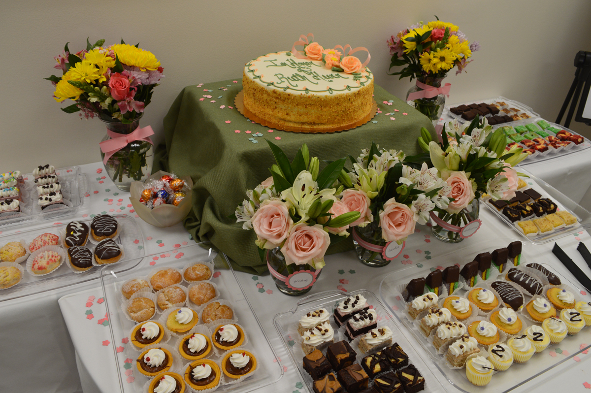 Dessert table at dedication ceremony