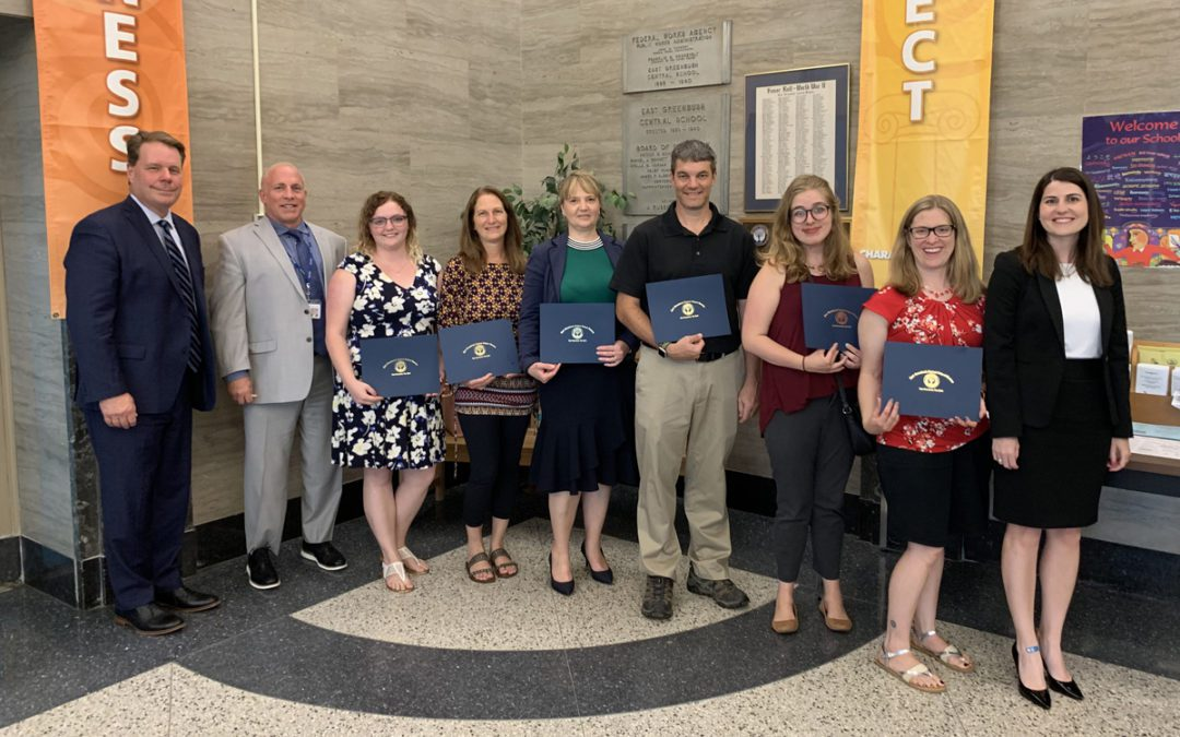 Teachers from Mentoring Program Recognized at Board of Education Meeting