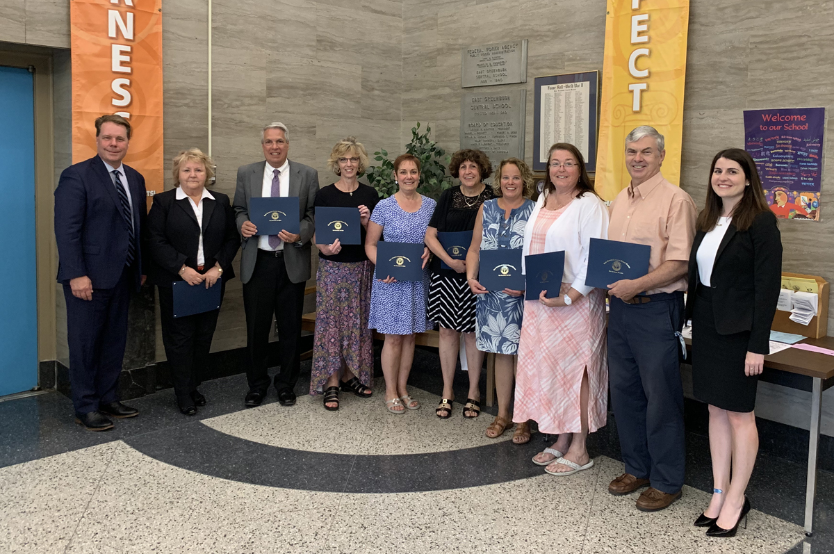 2018-19 retirees recognized at BOE meeting