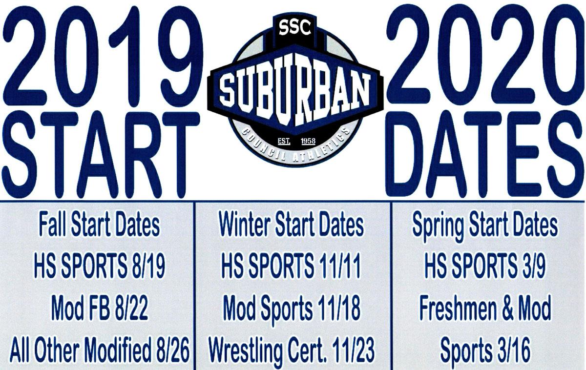 2019-20 Suburban Council Start Dates