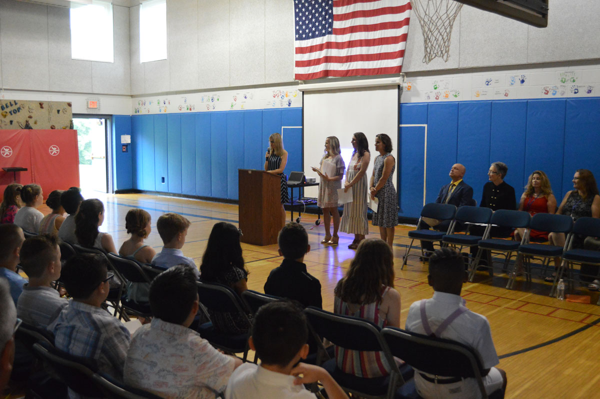 Bell Top teachers address students and families
