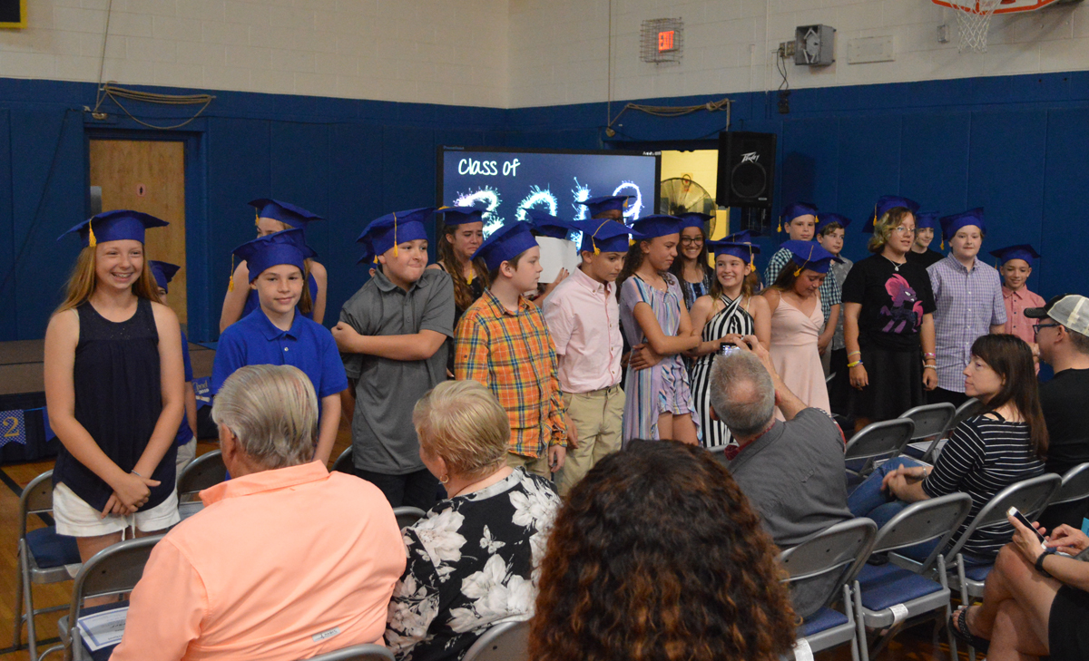 Students at DPS Moving Up Ceremony