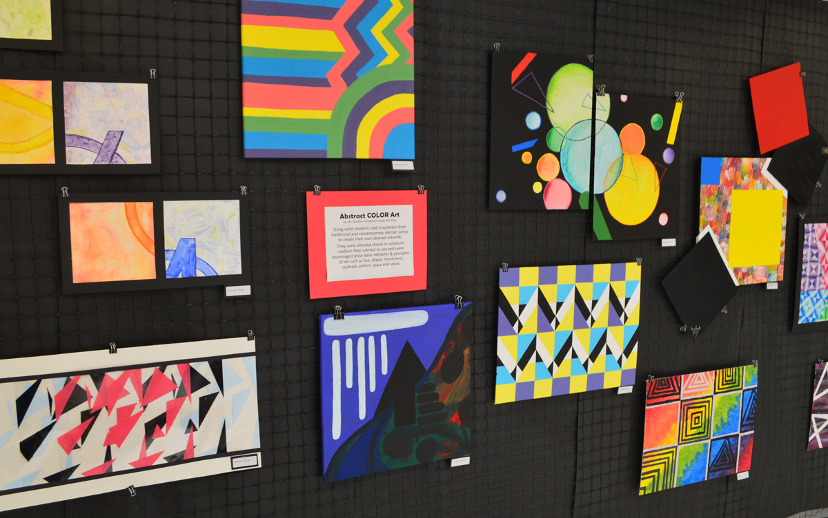 Abstract artwork from the 2019 Art Show at Columbia High School