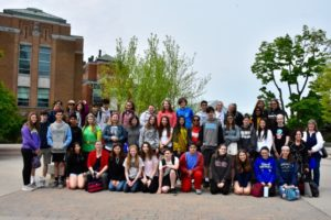 Goff Middle School students in Montreal