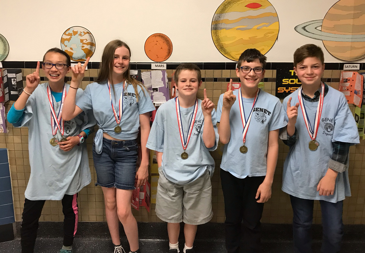 Genet team at 2019 5th grade math competition
