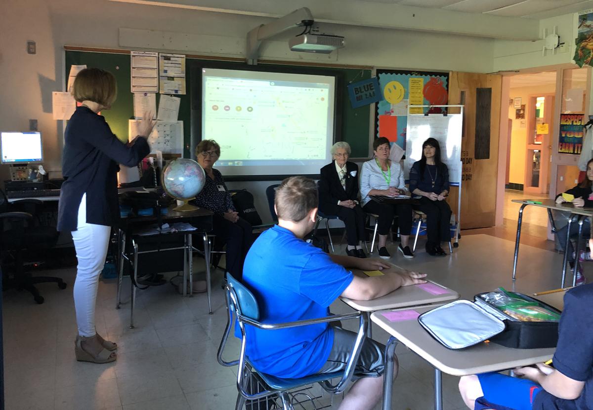 Guest speakers in Goff classroom