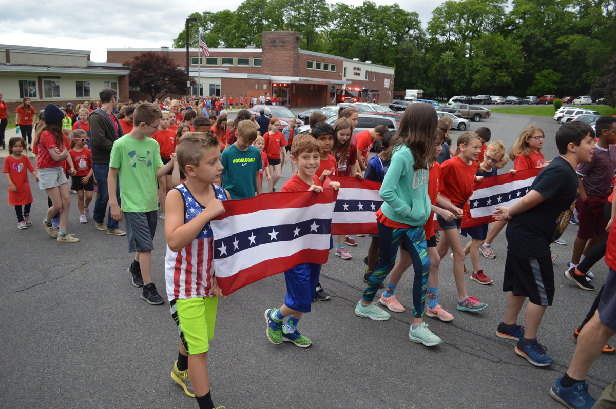 Students on Red Mill Character Education Walk