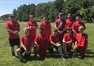 Red Mill Curve Balls kickball team