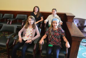 Students at the Rensselaer County court house