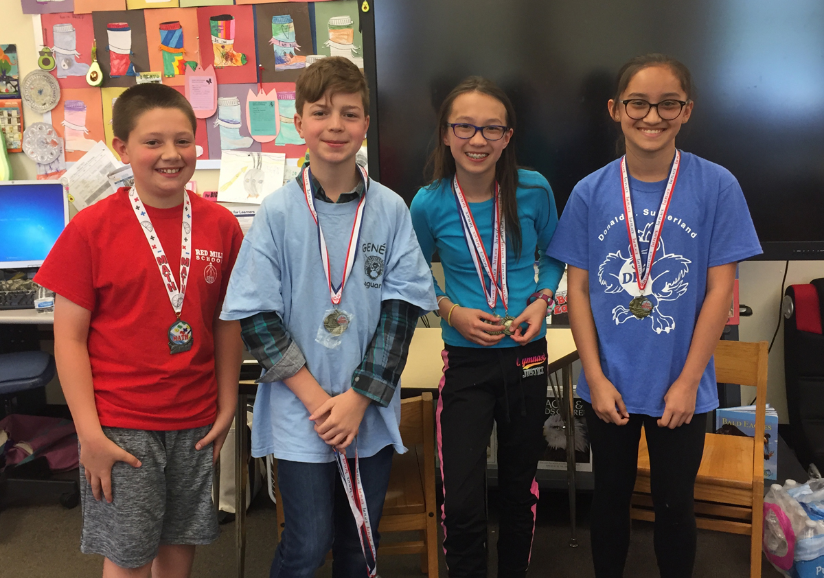 Top individual students at 2019 5th grade math competition