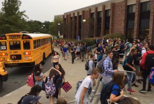 Columbia students enter school on first day