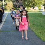 Genet students come to school on first day