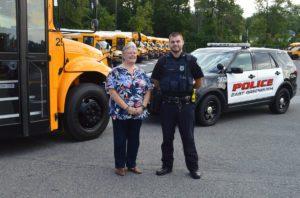 Transportation Supervisor MaryAnn Belmont and Officer Josh Witko
