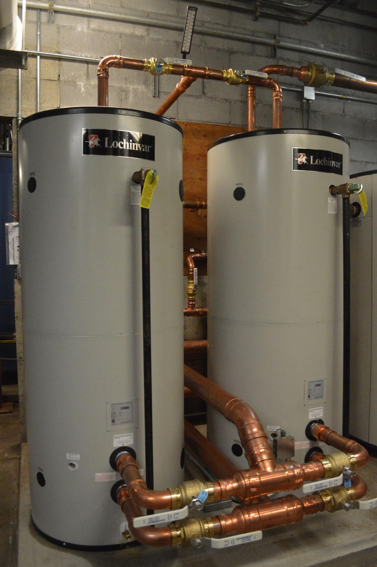 Domestic hot water tanks at Columbia